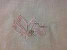 Cigueña bordada para sabanas, pañuelos y toallas bautizo ...