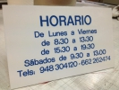 Placa Horario en Metacrilato.