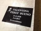Placa funeraria metacrilato