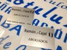 Placas Abogados en Aluminio